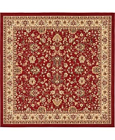 Arnav Arn1 Burgundy 8' x 8' Square Area Rug