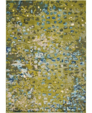 Bridgeport Home Adah Ada1 Green 7' x 10' Area Rug