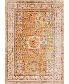 Bridgeport Home Malin Mal1 Gold 6' x 9' Area Rug