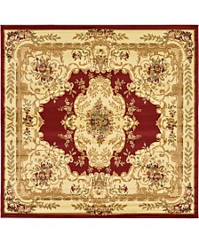 Bridgeport Home Belvoir Blv5 Red 8' x 8' Square Area Rug