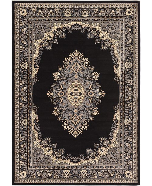 Bridgeport Home Birsu Bir1 Black 6' x 9' Area Rug
