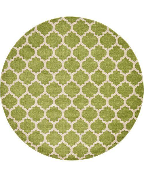 Bridgeport Home Arbor Arb1 Light Green 10' x 10' Round Area Rug