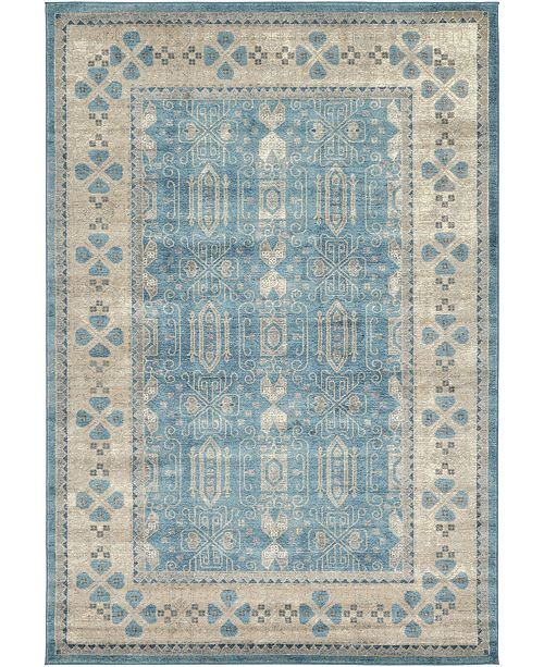 Bridgeport Home Bellmere Bel1 Light Blue 6' x 9' Area Rug