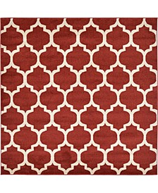 Arbor Arb1 Red 6' x 6' Square Area Rug