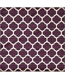 Bridgeport Home Arbor Arb1 Purple 8' x 8' Square Area Rug