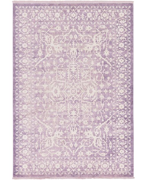 Bridgeport Home Norston Nor1 Purple 7' x 10' Area Rug