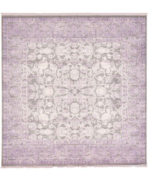 Bridgeport Home Norston Nor3 Purple 8' x 8' Square Area Rug
