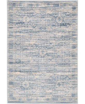 Caan Can3 Blue 8' x 8' Square Area Rug
