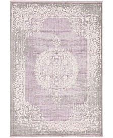 Norston Nor4 Purple 7' x 10' Area Rug