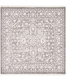 Norston Nor1 Gray 8' x 8' Square Area Rug
