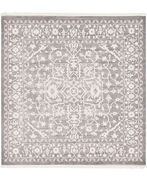 Bridgeport Home Norston Nor1 Gray 8' x 8' Square Area Rug