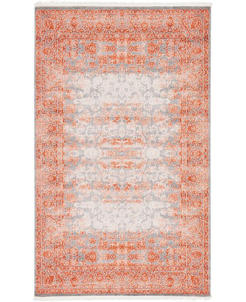 Bridgeport Home Norston Nor3 Terracotta 5' x 8' Area Rug