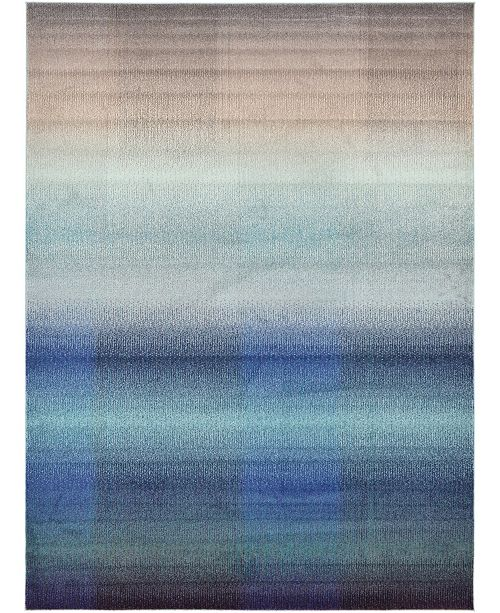 Bridgeport Home Newwolf New1 Blue 8' x 11' Area Rug