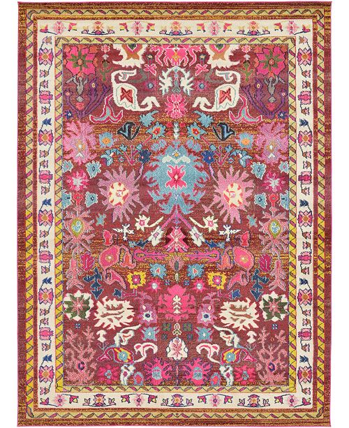 Bridgeport Home Sana San1 Multi 8' x 11' Area Rug