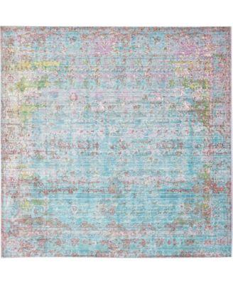 Malin Mal1 Blue 8' x 8' Square Area Rug