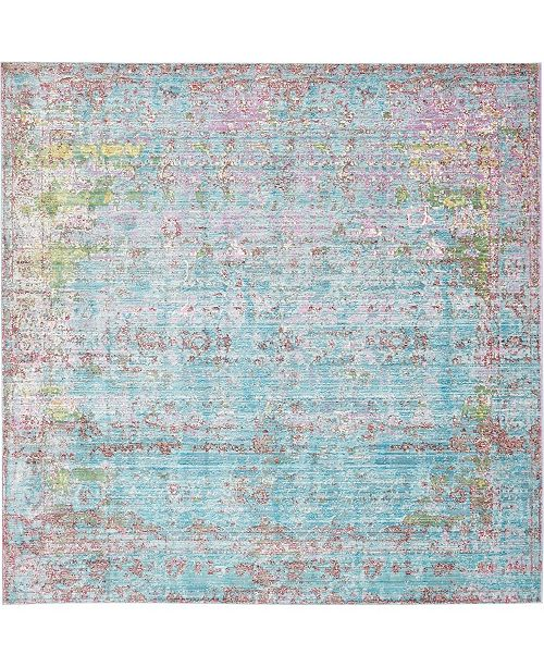 Bridgeport Home Malin Mal1 Blue 8' x 8' Square Area Rug