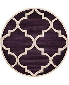 Arbor Arb3 Dark Purple 6' x 6' Round Area Rug