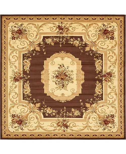 Bridgeport Home Belvoir Blv3 Brown 10' x 10' Square Area Rug