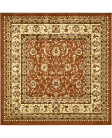 Bridgeport Home Passage Psg4 Brick Red 6' x 6' Square Area Rug