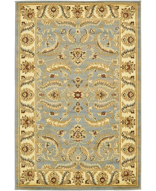 Bridgeport Home Passage Psg1 Light Blue 4' x 6' Area Rug