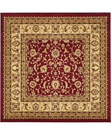 Passage Psg4 Red 6' x 6' Square Area Rug