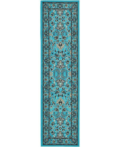 """Bridgeport Home Arnav Arn1 Turquoise 2' 7"""" x 10' Runner Area Rug"""