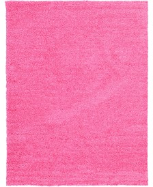 Bridgeport Home Exact Shag Exs1 Taffy Pink 9' x 12' Area Rug