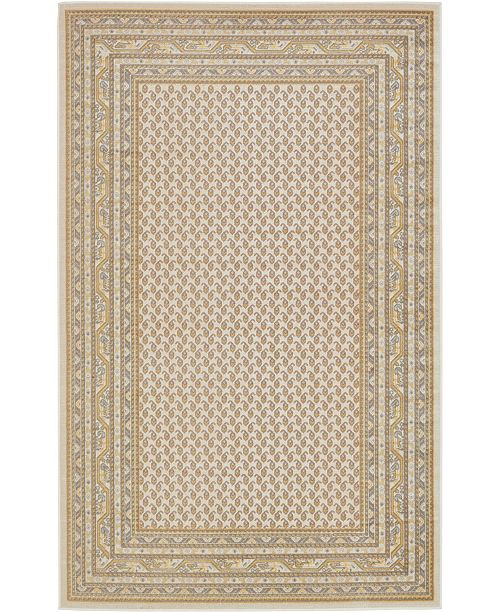 Bridgeport Home Axbridge Axb1 Beige 5' x 8' Area Rug