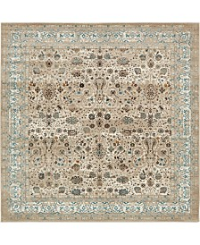 Bridgeport Home Reese Ree3 Taupe 6' x 6' Square Area Rug