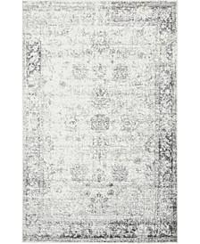 Basha Bas1 Gray 5' x 8' Area Rug