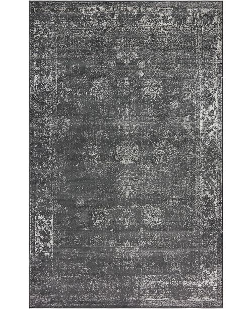 Bridgeport Home Basha Bas1 Dark Gray 5' x 8' Area Rug