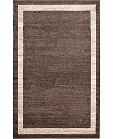 Bridgeport Home Lyon Lyo5 Brown 5' x 8' Area Rug