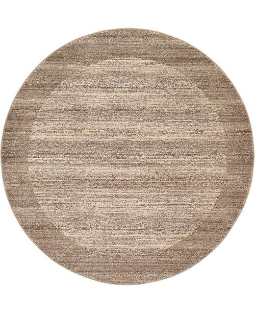 Bridgeport Home Lyon Lyo4 Beige 6' x 6' Round Area Rug