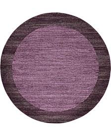 Lyon Lyo4 Violet 6' x 6' Round Area Rug