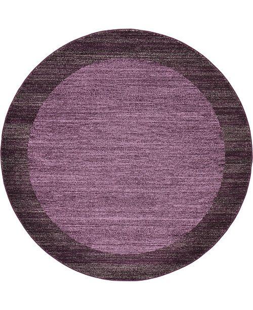 Bridgeport Home Lyon Lyo4 Violet 6' x 6' Round Area Rug