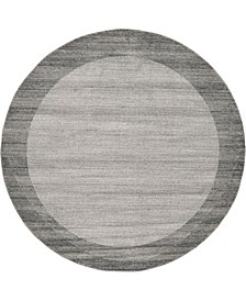 Lyon Lyo4 Light Gray 8' x 8' Round Area Rug