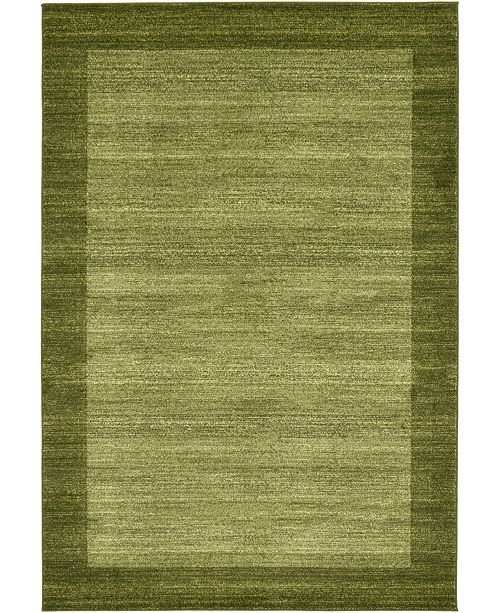 Bridgeport Home Lyon Lyo4 Light Green 6' x 9' Area Rug