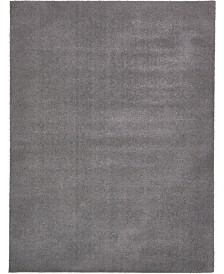 Bridgeport Home Salon Solid Shag Sss1 Dark Gray 9' x 12' Area Rug