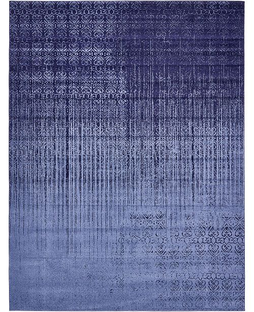 Bridgeport Home Lyon Lyo2 Blue 10' x 13' Area Rug