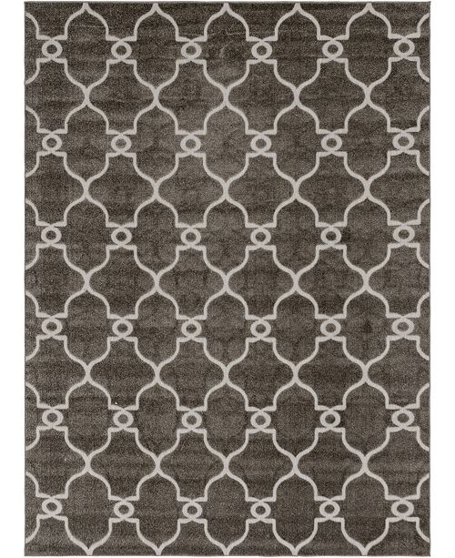 Bridgeport Home Pashio Pas2 Gray 9' x 12' Area Rug