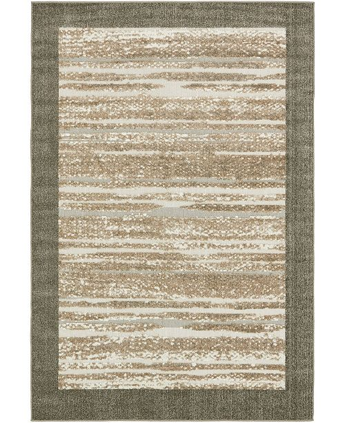 Bridgeport Home Pashio Pas4 Brown 6' x 9' Area Rug