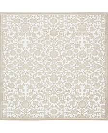 Marshall Mar1 Snow White 8' x 8' Square Area Rug