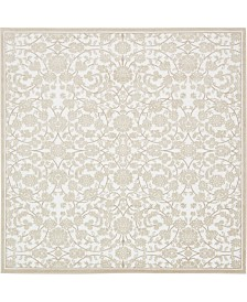 Bridgeport Home Marshall Mar1 Snow White 8' x 8' Square Area Rug