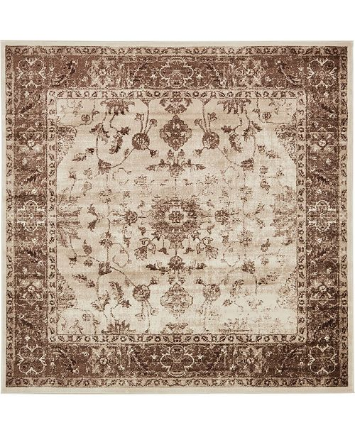 Bridgeport Home Marshall Mar2 Ivory 8' x 8' Square Area Rug