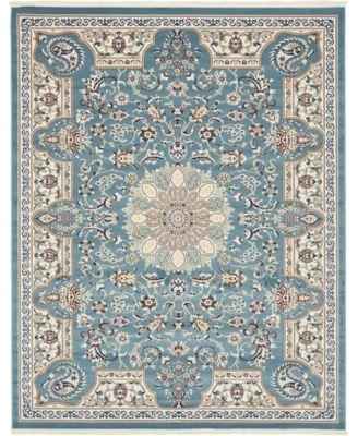 Zara Zar5 Blue 8' x 10' Area Rug