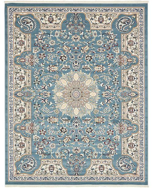 Bridgeport Home Zara Zar5 Blue 8' x 10' Area Rug