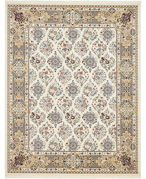 Bridgeport Home Zara Zar6 Ivory 8' x 10' Area Rug