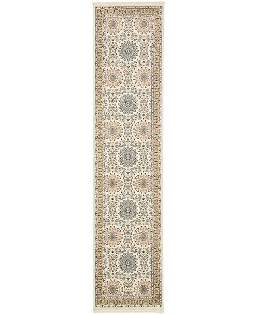 Bridgeport Home Zara Zar8 Ivory 3' x 13' Runner Area Rug