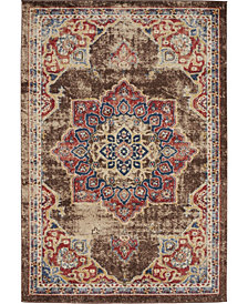 Bridgeport Home Shangri Shg3 Chocolate Brown 4' x 6' Area Rug