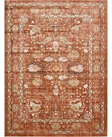 Bridgeport Home Masha Mas3 Terracotta 10' x 13' Area Rug